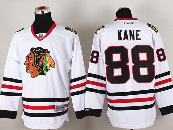 Mens reebok nhl chicago blackhawks #88 kane white (2014 new) Jersey