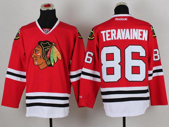 Mens reebok nhl chicago blackhawks #86 teravainen red (2014 new) Jersey