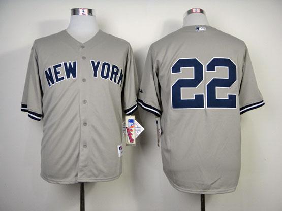 Mens Mlb New York Yankees #22 Ellsbury Gray Jersey