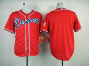 Mlb Atlanta Braves (custom Made) Red 2014 Cool Base Jersey