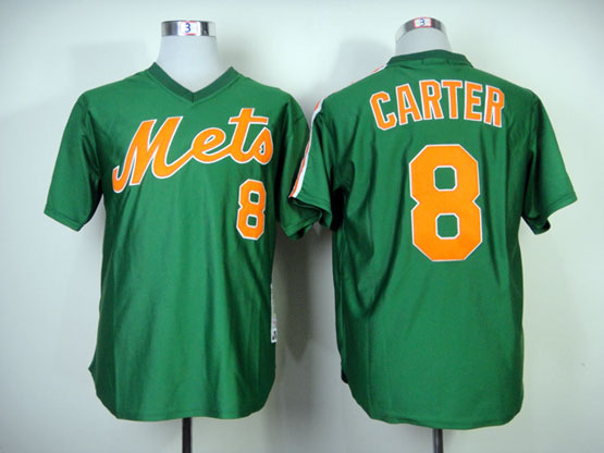 Mens mlb new york mets #8 carter green 1985 throwbacks Jersey