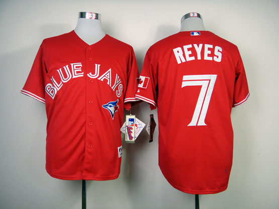 Mens mlb toronto blue jays #7 reyes red Jersey
