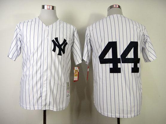 mens mlb new york yankees #44 jackson white(1977 throwbacks) Jersey(no name)
