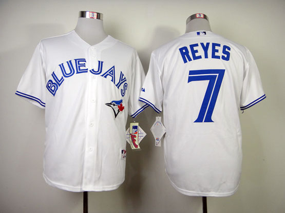 Mens mlb toronto blue jays #7 reyes white Jersey