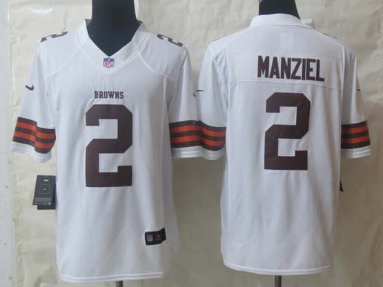 Mens Nfl Cleveland Browns #2 Manziel White Limited Jersey