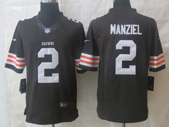 Mens Nfl Cleveland Browns #2 Manziel Brown Limited Jersey