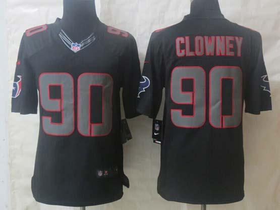 Mens Nfl Houston Texans #90 Clowney Impact Limited Black Jersey