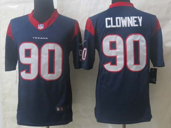 Mens Nfl Houston Texans #90 Clowney Blue Limited Jersey