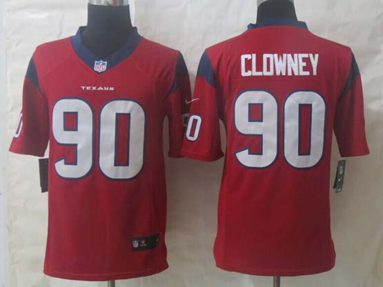 Mens Nfl Houston Texans #90 Clowney Red Limited Jersey