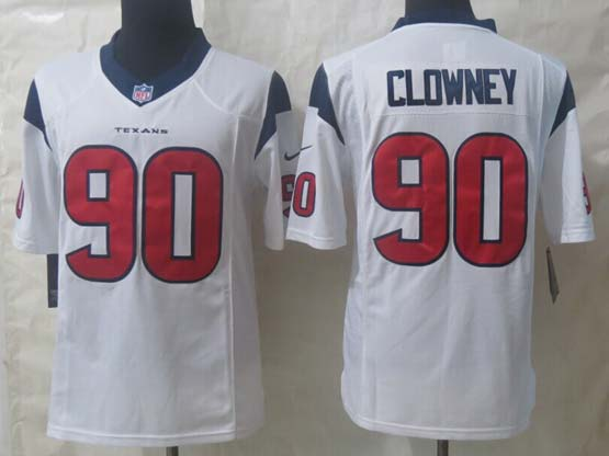 Mens Nfl Houston Texans #90 Clowney White Limited Jersey