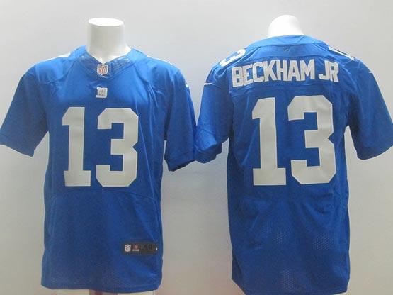 Mens Nfl New York Giants #13 Beckham Jr Blue Elite Jersey