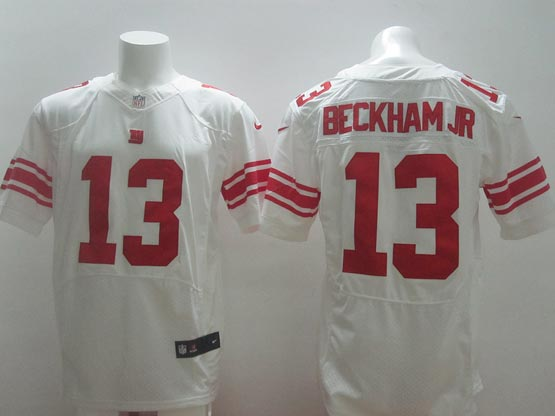 mens nfl New York Giants #13 Odell Beckham Jr white elite jersey
