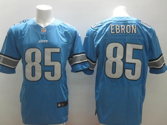 mens nfl detroit lions #85 ebron Light Blue elite jersey
