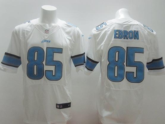 Mens Nfl Detroit Lions #85 Ebron White Elite Jersey