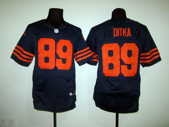 Mens Nfl Chicago Bears #89 Ditka Blue (orange Number) Elite Jersey