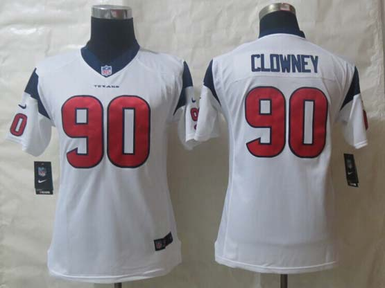 Youth Nfl Houston Texans #90 Clowney White Limited Jersey