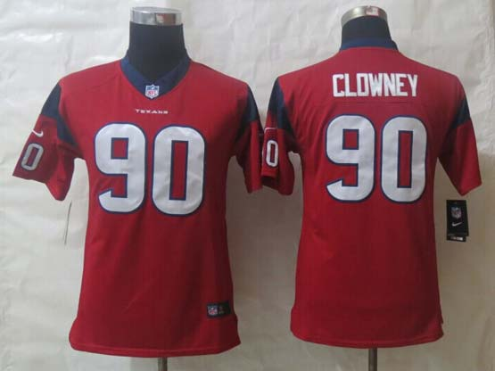 Youth Nfl Houston Texans #90 Clowney Red Limited Jersey