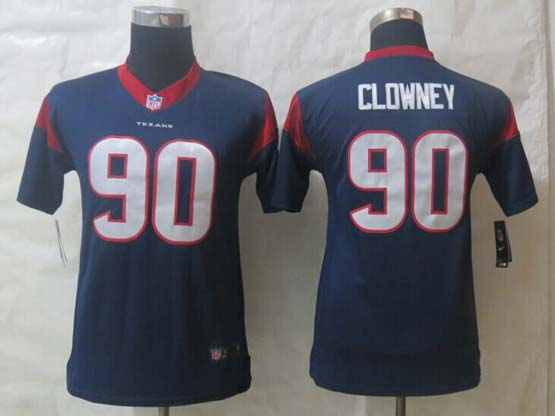 Youth Nfl Houston Texans #90 Clowney Blue Limited Jersey
