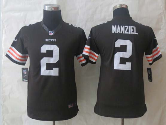 Youth Nfl Cleveland Browns #2 Manziel Brown Limited Jersey