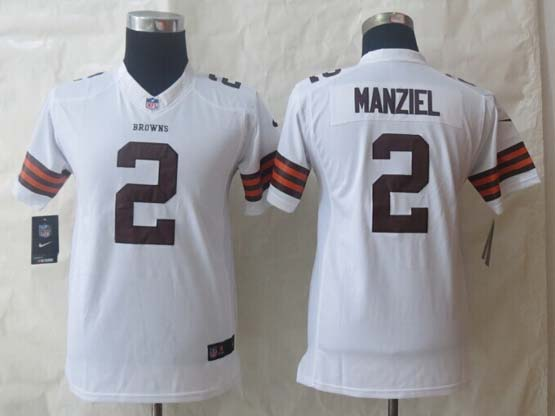 Youth Nfl Cleveland Browns #2 Manziel White Limited Jersey