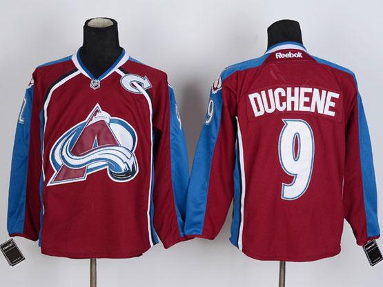 Mens reebok nhl colorado avalanche #9 duchene red Jersey