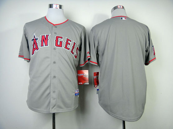 Mens mlb los angeles angels (blank) gray Jersey