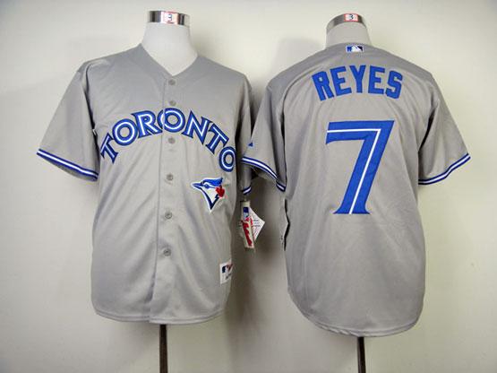 Mens mlb toronto blue jays #7 reyes gray Jersey