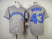 Mens mlb toronto blue jays #43 dickey gray Jersey