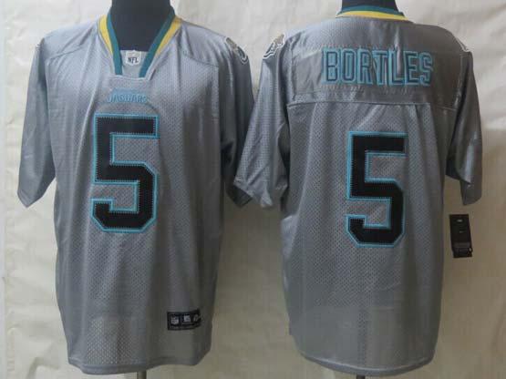 mens nfl Jacksonville Jaguars #5 Blake Bortles gray lights out (2014) elite jersey