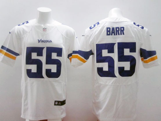 mens nfl Minnesota Vikings #55 Anthony Barr white (2013 new) elite jersey
