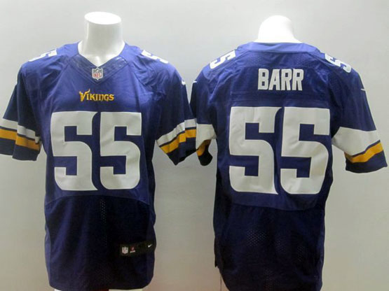 Mens Nfl Minnesota Vikings #55 Barr Purple (2013 New) Elite Jersey