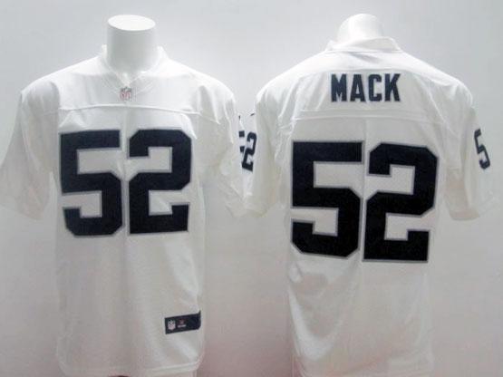 Mens Nfl Oakland Raiders #52 Mack White Elite Jersey