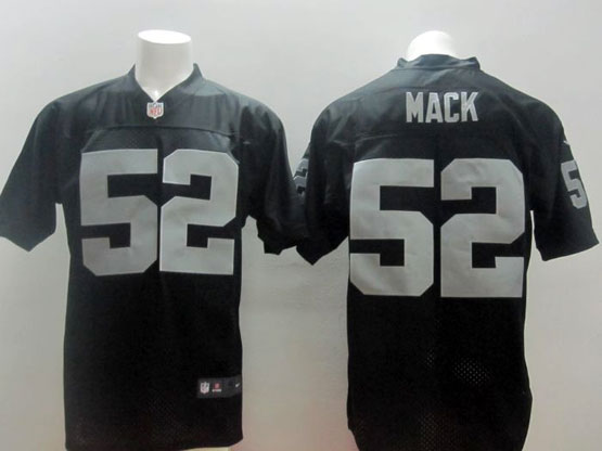 Mens Nfl Oakland Raiders #52 Mack Black Elite Jersey