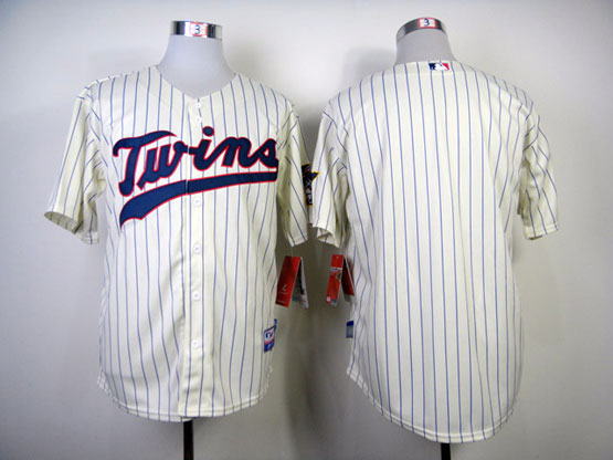 Mens mlb minnesota twins (blank) cream (blue letter) Jersey