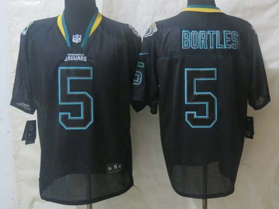 mens nfl Jacksonville Jaguars #5 Blake Bortles black lights out (2014) elite jersey