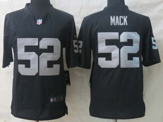Mens Nfl Oakland Raiders #52 Mack Black Game Jersey