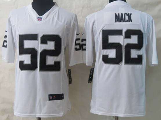 Mens Nfl Oakland Raiders #52 Mack White Limited Jersey