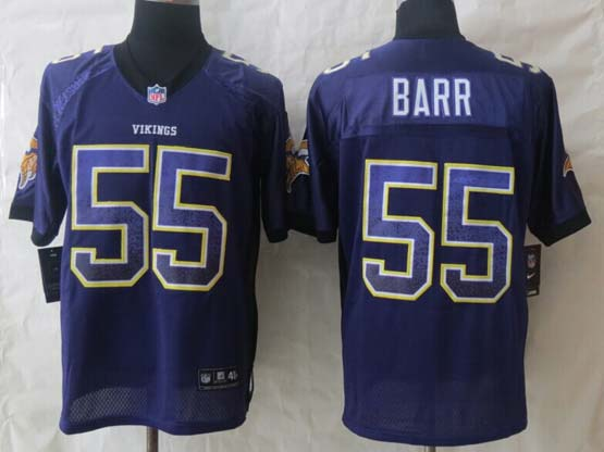 mens nfl Minnesota Vikings #55 Anthony Barr drift fashion purple elite jersey