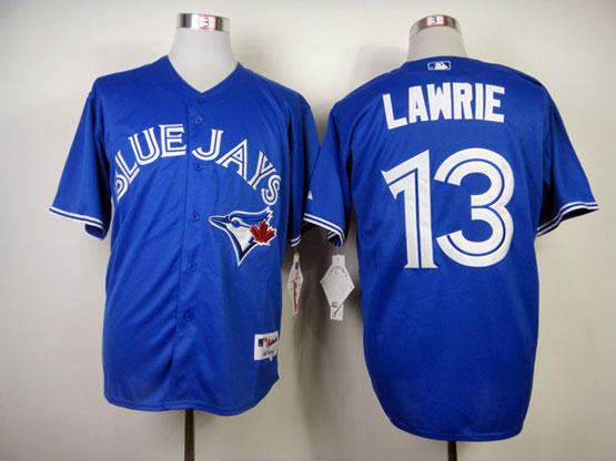 Mens mlb toronto blue jays #13 lawrie blue 2012 new style Jersey
