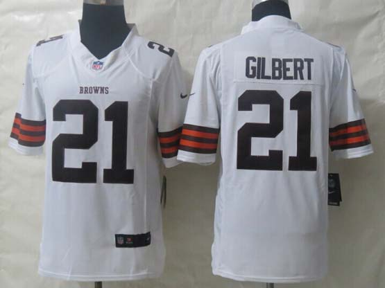 Mens Nfl Cleveland Browns #21 Gilbert White Limited Jersey