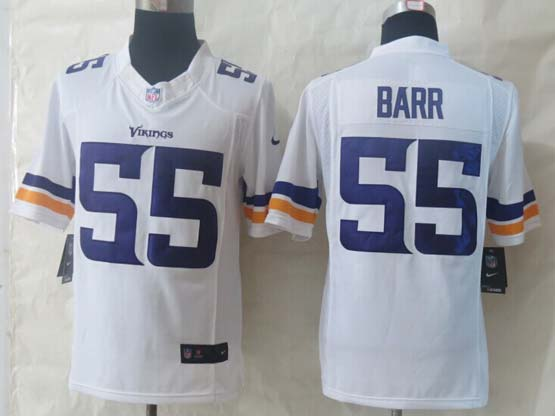 mens nfl Minnesota Vikings #55 Anthony Barr white white (2013 new) limited jersey