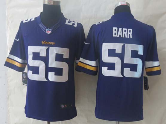 mens nfl Minnesota Vikings #55 Anthony Barr purple (2013 new) limited jersey