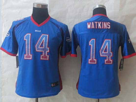 mens nfl Buffalo Bills #14 Sammy Watkins drift fashion blue elite jersey