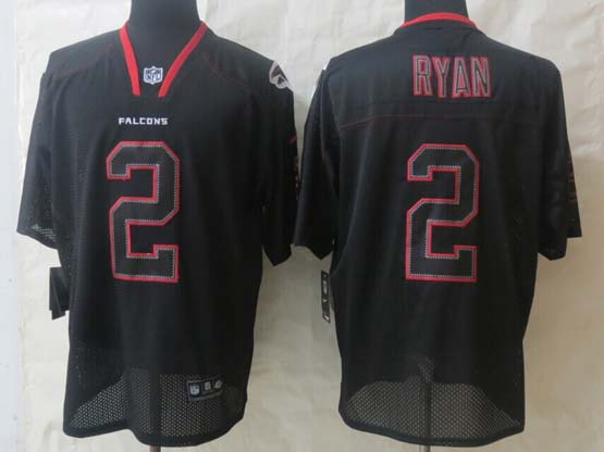 Mens Nfl Atlanta Falcons #2 Ryan New Lights Out Black Elite Jersey