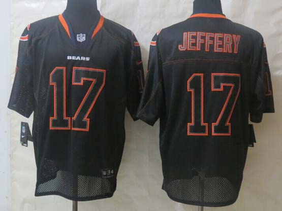 mens nfl Chicago Bears #17 Alshon Jeffery black (new lights out ) elite jersey