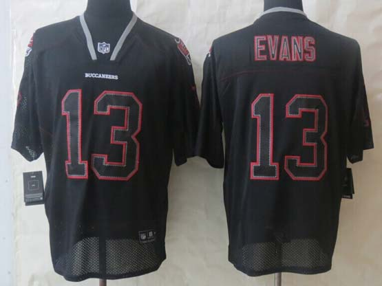 Mens Nfl Tampa Bay Buccaneers #13 Evans Black (new Lights Out) Elite Jersey