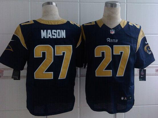 Mens Nfl St. Louis Rams #27 Mason Blue Elite Jersey