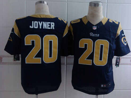 Mens Nfl St. Louis Rams #20 Joyner Blue Elite Jersey