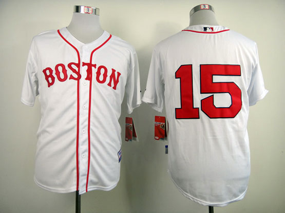 Mens Mlb Boston Red Sox #15 Pedroia White (2014 New No Name) Jersey
