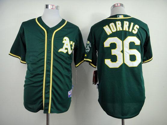 Mens Mlb Oakland Athletics #36 Norris Green (2014 New) Jersey